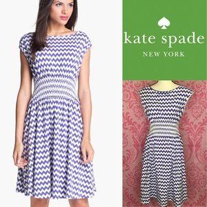 Kate spade purple chevron stripe Dress